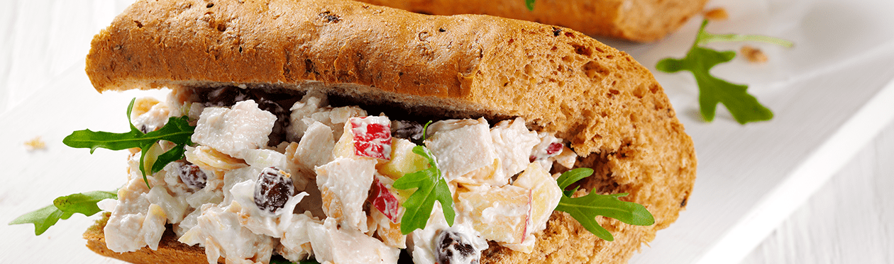 Yoghurt Chicken Salad Baguette Filling