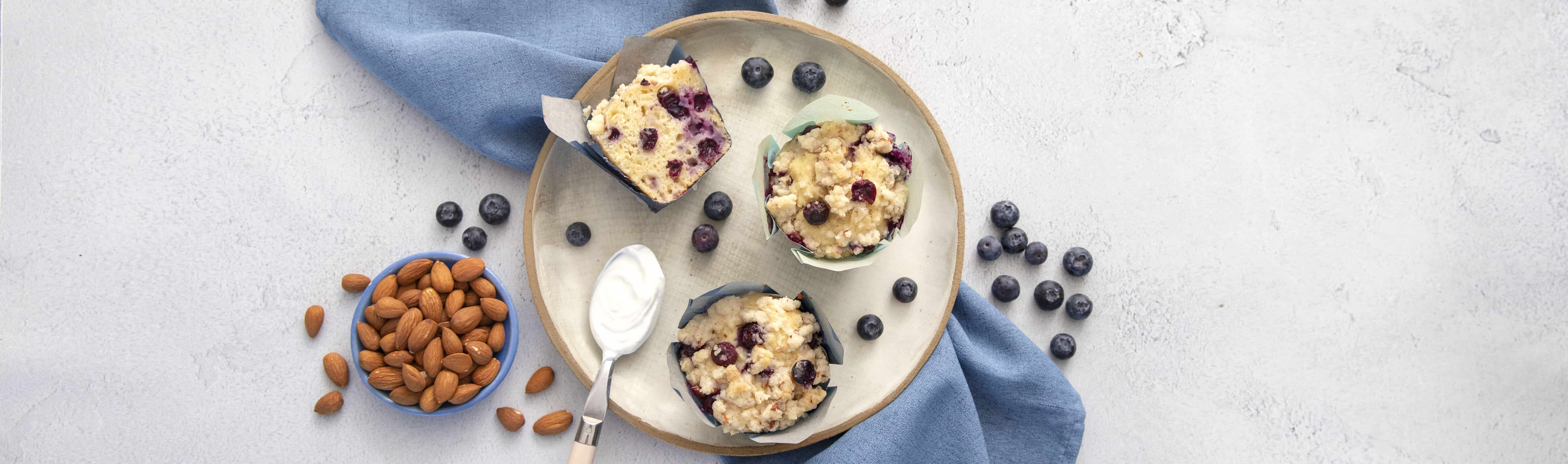 Blueberry Almond Streusel Muffins