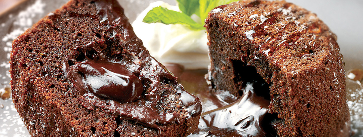 Baked Honey Chocolate Pudding
