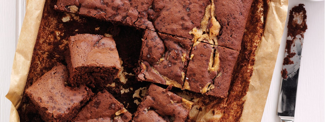 Peanut Butter & Maple Brownies
