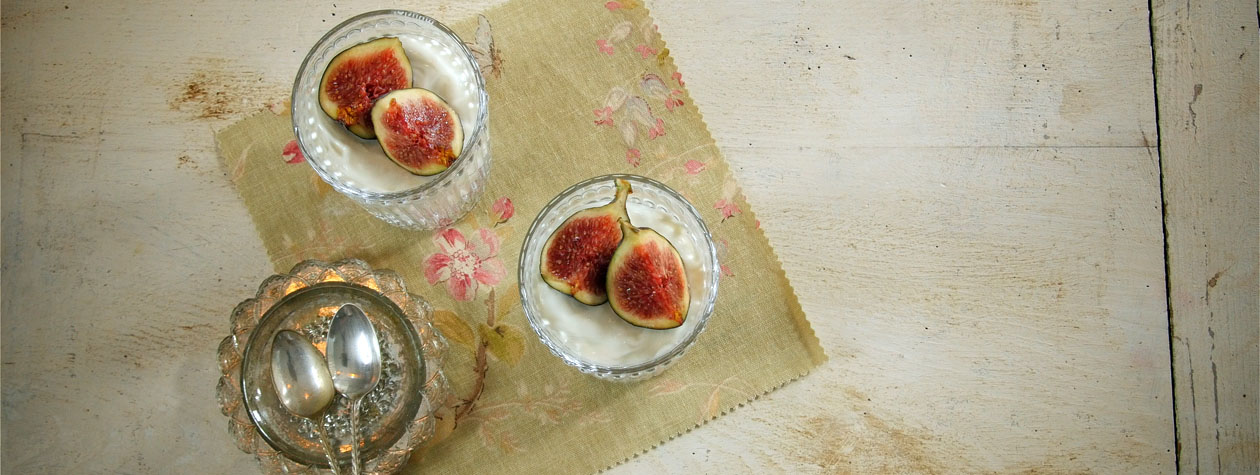 Fig, Ginger & Lemon Cheesecakes