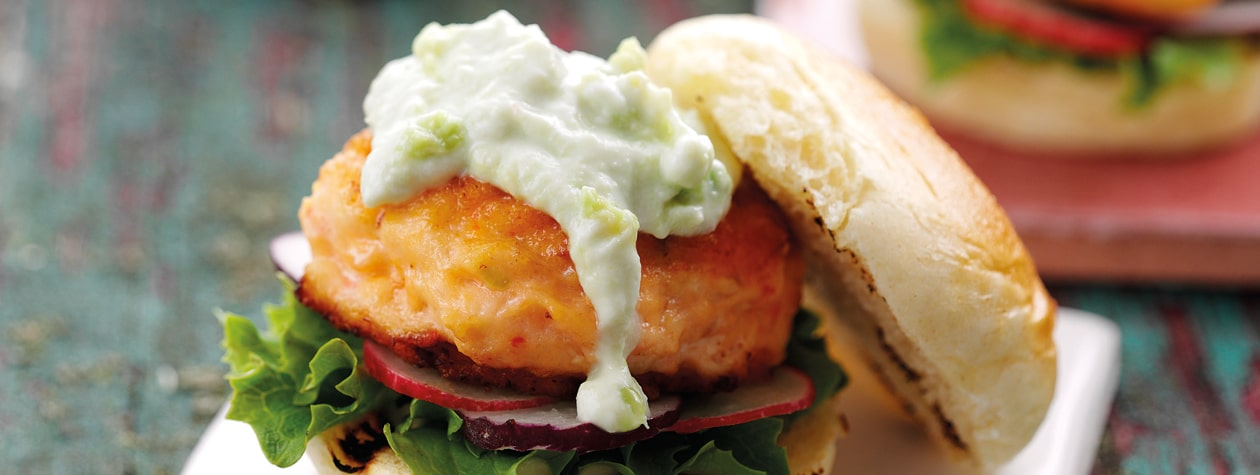 Zingy Salmon & Prawn Sliders with Wasabi Dip