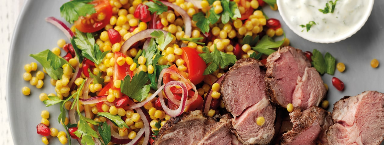 Spiced Lamb with Persian Cous Cous