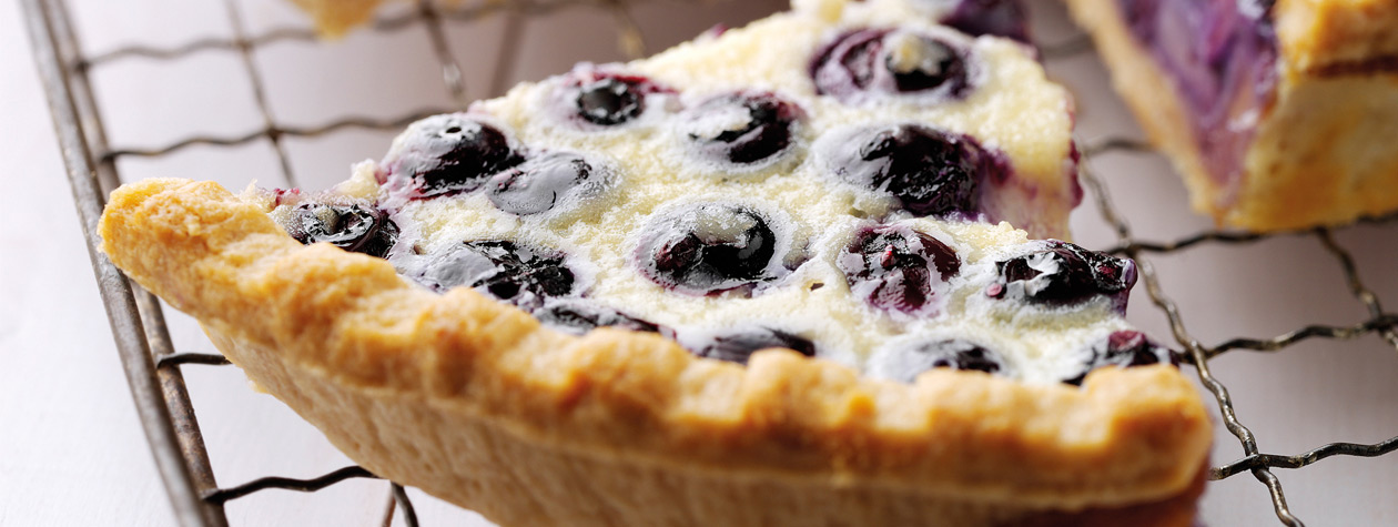 Baked White Chocolate and Blueberry Summer Tart